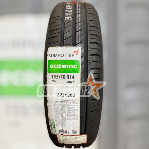 Lop Vo Xe Kumho 155 70R14 77H Ecowing KH27